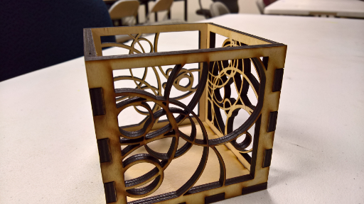 Example of a plywood creation using friction-fit joints